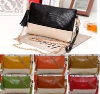 Genuine Leather Handbags Women Alligator Shoulder Bags Cross-body Messenger Bags Purses Panelletd Clutch BH-850 Free shipping