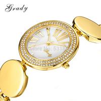 Grady brand new fashion christmas gift women 316L stainless steel watch ladies quartz watch