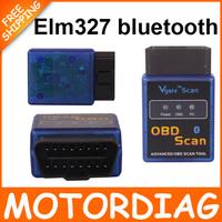 diagnostic tool New super MINI ELM327 Bluetooth OBD2 Scanner/Code Reader Interface ELM 327 bluetooth obd 2 V2.1 car detector