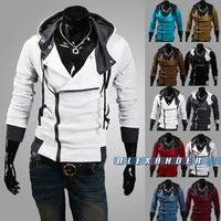 Freeshipping,Hot Sale 2014 New Styles Men's Autumn and Winter Cardigan Korean Men's Hoodie Jacket Brand