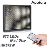 Aputure Amaran HR672W High CRI95+ 672 Led Video Light Panel w 2.4G Wireless Remote & 2x6600mAh NP-F970 Batteries & Bag,HR672