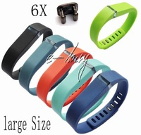 6pc Black Teal Tangerine Slate lime navy Large Replacement Band For Fitbit Flex Band Wristband Bracelet W/ Clasps free shipping