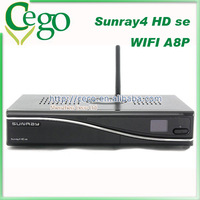sunray sr4 triple tuner wifi with Security A8P Card Satellite Receiver