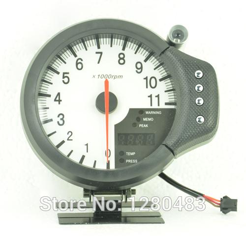 "5"" White face/black LED 3-in-1 Tachometer ,rpm gauge,water temp & oil pressure gauge/Apexi gauge/Auto meter/Auto gauge(China (Mainland))"