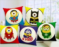 decorative cushion covers  100% High Quality Cotton & Linen Pillow Cover Cushion Case, 18 X 18 Inch,  cartoon cushion cover