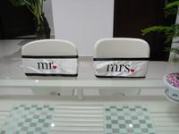 Mr & Mrs satin chair sash