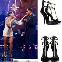 2014 Free shipping gladiator sandals women fashion open toe women sandal ladies high heels shoes tenis feminino shoes woman