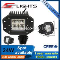 2pcs24W Led Work Spot Light 1120LM Offroad Driving Truck BoatUV ATV Led CREE  Lamp LED auto cars