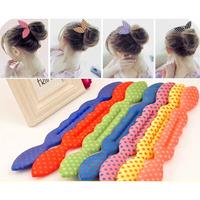 FS 1-003 minimum order $10   free shipping  Rabbit ear dot sponge meatball head hairdisk headband fashion girl bow  hairwear