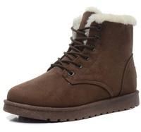 4 Colors Plush Snow Boots Women 2014 Ankle Boots Heels Platform Fashion  Flat Heels Shoes Women Lace Up Boots Winter Snow Boots