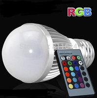 Aluminum 230V 240V 110V 220V E27 5W RGB led bulb lamp Color change 5 watt Led lights rgb for home decotation