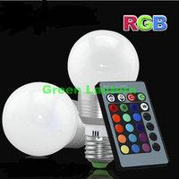 3W RGB E27 16 Colors LED Light Bulb Lamp rgb Spotlight 220V 110V 230V 240V + IR Remote Control
