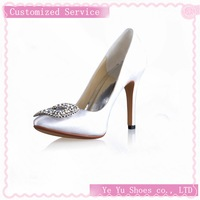 Size 34-41.Free Shipping!Satin Stiletto Closed Toe Wedding / Party Evening Shoes With Rhinestone CY0138