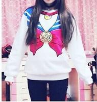 HP-33 new 2014 Sailor moon sweatshirt sportswear sport harajuku wimen's clothing sports sailor moon fake sailor t shirts cosplay