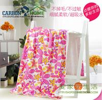 230g/pc 70*130cm large flower bath towel super absorbent soft big nanofiber beach towel HD1014