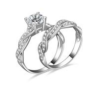 1 carat cz diamond Engagement & bridal ring sets (MATE R130)