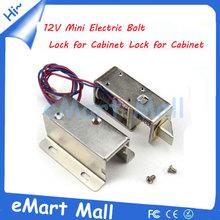 DC 12V Mini Electric Bolt Lock for Cabinet , Drawer