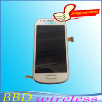 100% Guarantee original For Samsung Galaxy S3 Mini I8190 LCD touch screen display with digitizer + Bezel Frame Free Shipping
