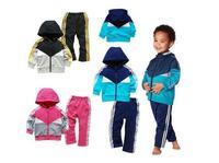 2014 new arrive factory low price children clothing set children 2 pcs sport suit autumn cloth set brand Ad children cloth