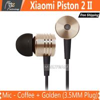 XIAOMI In-ear Earphone w/ Mic - Coffee + Golden (3.5MM Plug)