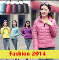 New Designer Fashion Brand Women Super Light White Duck Down Jacket 7 Colors Plus Size S-XXL Winter Outwear Zipper Slim Parkas