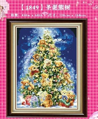 Diy diamond painting kit 3D Diamond cross stitch plants embroidery free shipping living room Christmas tree bears(China (Mainland))
