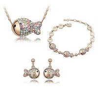Korean jewelry crystal jewelry three-piece suit clownfish clown fish rich suite