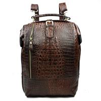 2015 New Vintage Fashion Crocodile Casual 100% Top Genuine Leather Cowhide Women Backpack Backpacks Shoulder Bag Bags For Ladies