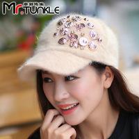 New Arrive Autumn Winter Hat Baseball Cap For Women Lady Fur Hats Snapback Caps Wholesale