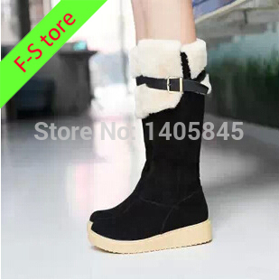 2014 High Quality New Winter Boots Knee High Boots Shoes Women Winter Boots Women Cheap Boots Black/Beige/Brown Free Shipping(China (Mainland))