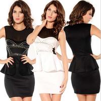FREE SHIPPING Fashion ol women's princess dress sexy ruffle hem one-piece dress 2705