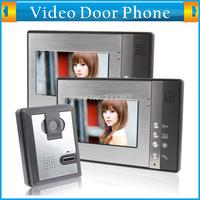 7 Inch TFL LCD 2 in 1 Video Door Phone Doorbell Intercom Kit Night Vision Camera Rain Oxidation-proof 2 High Definition Monitor