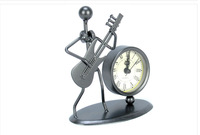 Artist delicate exquisite gift crafts zakka style groceries exquisite metal alarm clock with the figure of a musician 7 styles