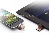 New Capacity pendrive mini usb flash drive 128gb usb flash drive double plug metal OTG MINI Smart phone pen drive Freeshipping