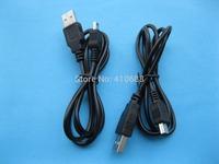 USB 4Pin Male to Mini USB 5 pin Male Cable 80cm 0.8m Long Black Color 6 pcs per lot HOT Sale High Quality