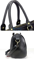 New Fashion Black Tote Women's PU Leather Shoulder Messenger Bags Handbag Purse B20 2946