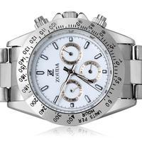 Decent Businessmen Dress Watches Quartz 100% Real 316L Wristwatch Original Brand Name Men Full Steel Clock 6 Hands Relojes NW689