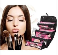 2014 NEW arrival cosmetic bag fashion women makeup bag hanging toiletries travel kit jewelry organizer. Free shipping