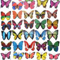 [SPECIAL CHEAP]8-9.5 cm width Vivid Multi Color Noctilucent Luminous Butterfly Fridge Magnet for Home Decor 50pcs/lot