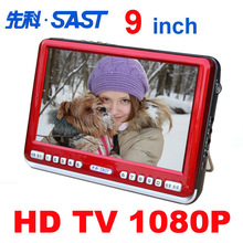 Free shipping HIGH QUALITY 9 inch Mini TV Radio E-book  picture playback with Speaker and Earphone keyboard Lock/Sleep Function(China (Mainland))