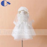 Baptism Dress For Baby Girl 3 Pcs Set Christening Gown Infant Baby Party Dress Vestidos Roupa Infantil Toddler Baby Girls Dress