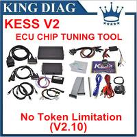 DHL Free ECU Chip Tuning Tool High Quality KESS V2 OBD2 Manager Tuning Newest V2.07 Kit NoToken Kess V2 Master unlimited