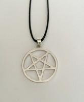 Inverse Pentagram Pendant Necklace Black Deacon Hunter Van Helsing Hell Satan Logo