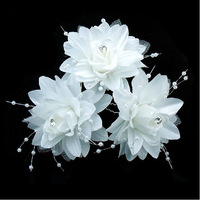 Fashion Wedding Accessories Yarn Flower Bride Hair Pins For Women Free Shipping