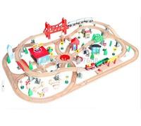 2sets Thomas Wooden TRAIN Train tracks toy kid kids car toy track City train set 1set=130pcs