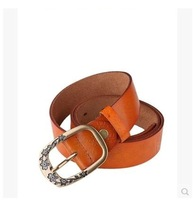 Casual jeans belt leather belt fashion belt leather belt embossed wild Kaidi La New 154