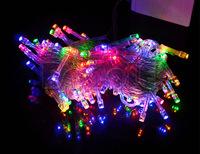 Christmas Light Multicolour 100 LED String Light 10M 220V/110V EU/US Plug LED Decoration Light for Party Wedding Free Shipping