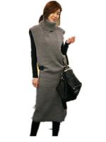 Fee Shippping Women 2014 Winter new Korean female turtleneck cashmere sweater Dresses,Elegant Knit dress