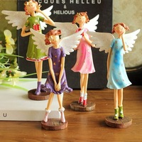 European creative home decorations teenage girl angel ornaments resin crafts gifts 917503 4pcs/set