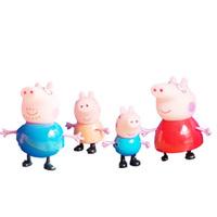 New 2014 Hot Sale Anime Peppa Pig Toys Dolls Daddy Mummy Pig George Pepa Pig Family Set 4pcs/lot No Retail Box, Kids Boy gifts